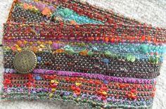 Handwoven Fabric Cuff Bracelet,