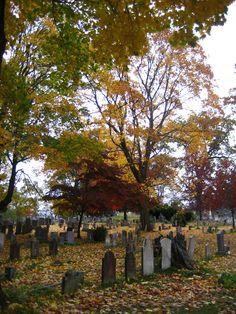 Sleepy Hollow Cemetery on Halloween