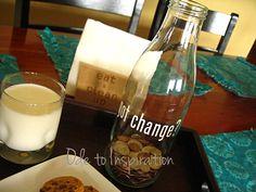 got change? Milk Bottle change jar.
