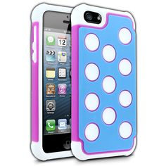 Cellairis Tundra Case for Apple iPhone 5 - White, Pink & Sky Blue iPhone 5 Case - www.cellairis.com