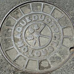 One of the oldest-known manhole covers, located on Jersey Street in Soho, for the Croton Aqueduct system in New York City