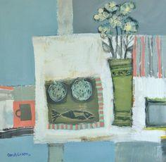 Scottish Artist Charles ANDERSON DA, RSW, Hon FRIAS-Still Life in Blue