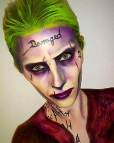 Joker Face Paint Suicide Squad : joker, paint, suicide, squad, Paints, Ideas, Painting,, Paint,, Painting, Halloween