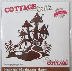 #morningsunstudio Cottage Cutz Haunted Mushroom House Halloween Fall Autumn craft die cuts  #CottageCutz