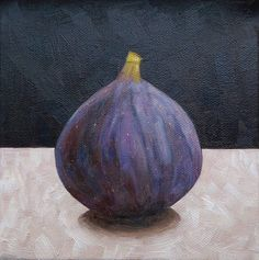 Fig Oil Painting Fig Still Life Painting 6x6 Inches Canvas