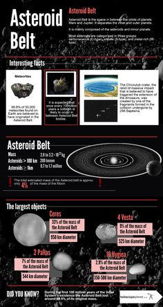 The Solar System infographics- Asteroid Belt #astronomy #infographics