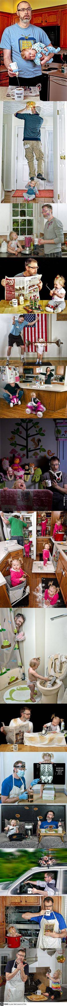 Fun pictures of the 'World's Best Father'...