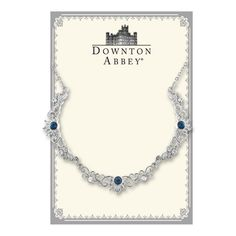 Downton Abbey® Boxed Silver-Tone Sapphire Crystal Filigree Scallop Collar Necklace