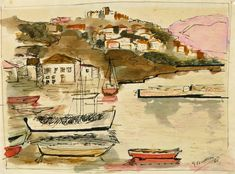 Unknown - Sailboats in Bay | 1stdibs.com