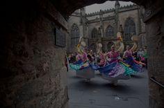 Dancers at the edinburgh festival fringe full tinted