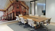Kite table base with brilliant wall graphics. Office Furniture Design, Bespoke Furniture, Joinery, Kite, Graphics, Trends, Wall, Home Decor, Carving