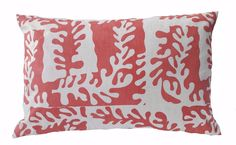 Sea leaf pillow in Venetian Red Printed Cushions, Venetian, Throw Pillows, Sea, Prints, Cushions, Decorative Pillows, Decor Pillows, Printmaking