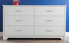 South Shore Furniture Fusion Dresser, Pure White