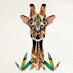 love this #giraffe from Manoou. #art #friends #artbyfriends #animals