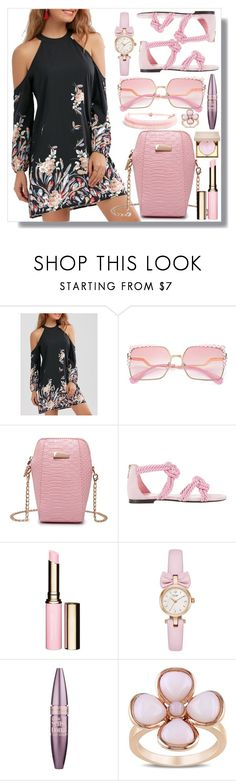 """""""dress by twinkledeals"""" by teto000 ❤ liked on Polyvore featuring Maison Ernest, Clarins, Maybelline, Miadora and Stila"""