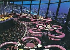 Top of the Ritz c1979: The Revolving restaurant aka The Revolting restaurant in Sea Point
