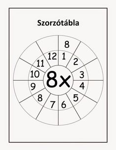 Multiplication Basic Facts – 8 , 9 & 12 Times Tables – Nine Worksheets / FREE Printable Worksheets Multiplication Wheel, Multiplication Facts Worksheets, Kindergarten Worksheets, Worksheets For Kids, Maths Puzzles, 2 Times Table, Times Tables Worksheets, Math Charts, Free Printable Worksheets