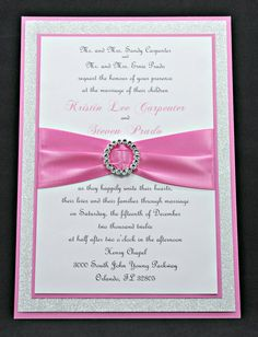 Pink Wedding Invitation Full of Bling Sparkle and by InviteBling, $5.23