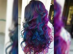 Brunettes can join the colored hair fun with this new fierce oil slick trend!