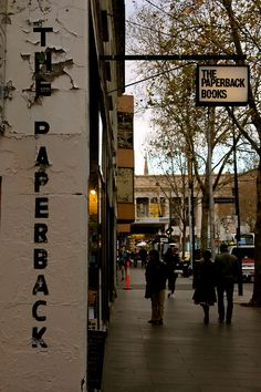 The Paperback Bookshop, Melbourne. Modest in size, but a great bookshop in terms of content and breadth. A Melbourne institution.