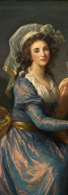 Elisabeth-Louise Vigee Le Brun - Marquise de Pezay, and the Marquise de Rouge with Her Sons Alexis and Adrien [1787] - detail