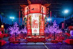 Chinese New Year Decorations, New Years Decorations, Festival Decorations, Chinese Wisteria, Chinese Celebrations, Chinese Lamps, Storage Trolley, Traditional Lanterns, Graphic Design Brochure