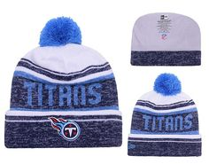 dedb68973acfd Men s   Women s Tennessee Titans New Era 2016 NFL Snow Dayz Knit Pom Pom Beanie  Hat - White   Navy   Blue