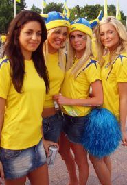 Swedish girls at EURO 2008