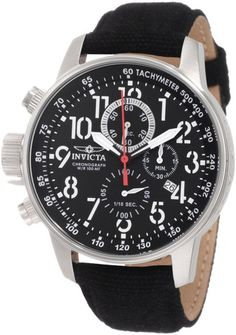 Invicta Men's 1512 I Force Stainless Steel Watch with Cloth and Leather Strap
