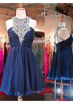 Navy Blue Homecoming Dress,Cute Prom Dress,Short Prom Dresses PD20181981