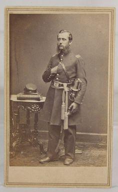 1860s Civil War CDV Photo 2nd New York Heavy Artillery Officer by Mathew Brady…