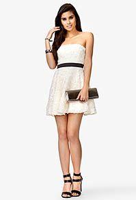 white dress with a black belt, great match :) Dresses For Tweens, Grad Dresses, Cute Dresses, Cute Outfits, Formal Dresses, Forever 21 Outfits, Forever 21 Dresses, Teen Fashion, Womens Fashion