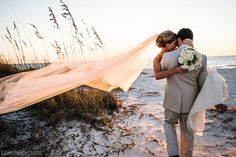 Beautiful beach couple love wedding beach outdoors sun couple married