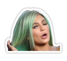 King Kylie Hair Flip Eye Roll Sticker