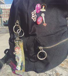 ~•°·* @moachimoon Aesthetic Backpack, Aesthetic Bags, Korean Aesthetic, Pop Bag, Exo Merch, K Pop, Kpop Diy, Blackpink Photos, Cute Bags