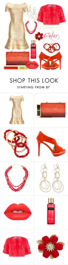 """Dream In Color"" by ruaorlia13 ❤ liked on Polyvore featuring Hervé Léger, Tom Ford, NEST Jewelry, Carlos by Carlos Santana, Carolina Bucci, Lime Crime, Lilly e Violetta, women's clothing, women and female"