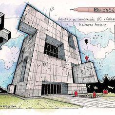 Centro de Innovacion uc by #AlejandroAravena  #Amazing #architectural #illustration by @fer__neyra  #architecture #design #sketch #sketches #draw #drawing #archilife #archilovers #archidaily #architecturestudent #architect #concrete #love #arcfly