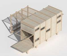 Tiny House Cabin, Tiny House Design, Ideas De Cabina, Cottage Porch, Interior Design Presentation, Retreat House, Modular Structure, Kiosk Design, Container Architecture
