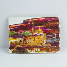 The Painting Magnet Of Ortaköy Mosque - 14 $ / %100 Handmade by cosanon art Mosque, Magnets, Unique Jewelry, Handmade Gifts, Painting, Oil, Etsy, Vintage, Kid Craft Gifts