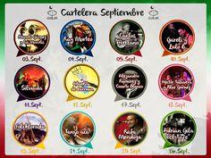 Te presentamos nuestra cartelera del mes de septiembre. #Puebla