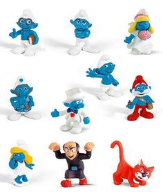 Loving this 10-Piece Smurf Figure Set on #zulily! #zulilyfinds LOVE these!!! $37.99