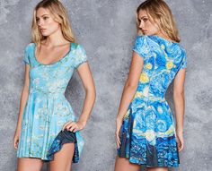 Starry Night VS Almond Blossom Cap Sleeve Inside Out Dress - LIMITED ($180AUD) by BlackMilk Clothing