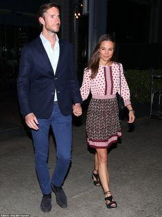 Table for two: Pippa Middleton and James Matthews enjoyed a romantic meal at waterfront re...