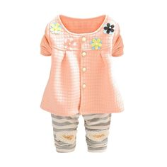 7027d65318ac Amazon.com: BOBORA Baby Girls Flower Blouse Tops+Stripe Long Pants Outfits:  Clothing