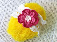 A personal favorite from my Etsy shop https://www.etsy.com/listing/538538039/crochet-flower-baby-hairband-lace-new