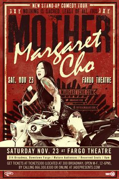 Let your freak-flag fly at Margaret Cho / Fargo / 11.23.13! @Jade Presents