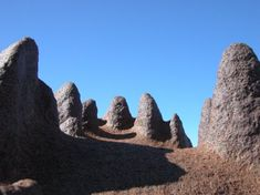 Antartica: there are places that look like they might as well be on the moon, like these pillars of dolerite in the Kennar Valley.   Photo by Gretchen Williams