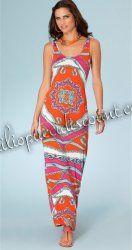 Emilio Pucci Stretch Rayon Knit Tank Maxi Dress Sale