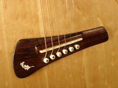 Handmade Steel String Guitar rosewood and ivory bridge
