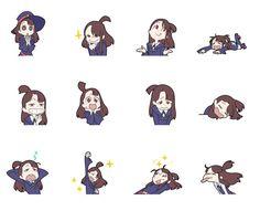 CATSUKA - Little Witch Academia stickers by Yoh Yoshinari.
